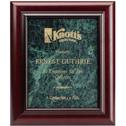 Marble Plaque and Frame – LA Trophy